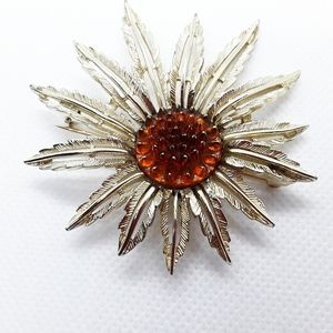 Vintage Sarah Coventry 1960's Sunflower Brooch